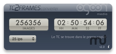Screenshot 1 for TC2Frames Converter Widget