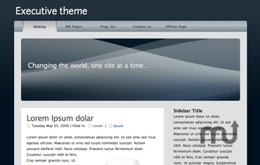 Screenshot 1 for Executive Theme
