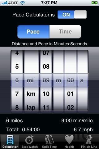 Screenshot 1 for Track My Pace