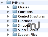 Screenshot 1 for PHP BBEdit Clipping Set