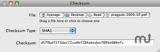 Checksum 1 9 download for Mac   MacUpdate