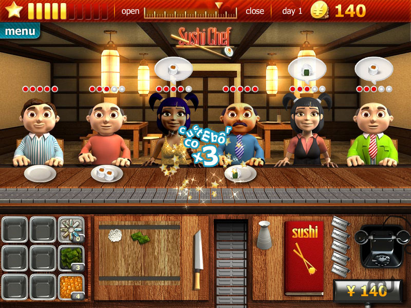 Screenshot 1 for Youda Sushi Chef