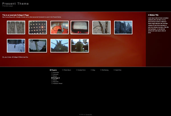 Screenshot 1 for Present Theme