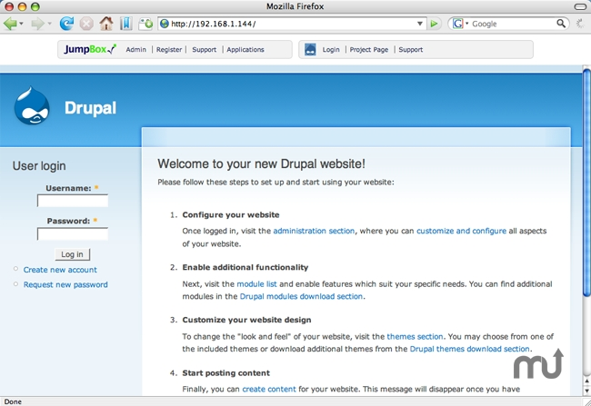 Screenshot 1 for JumpBox for Drupal CMS