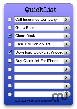 Screenshot 1 for QuickList