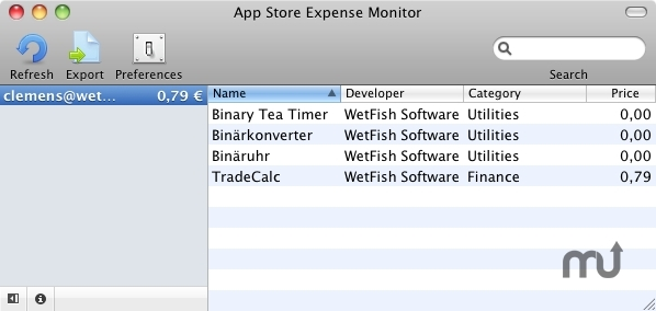 Screenshot 1 for App Store Expenses