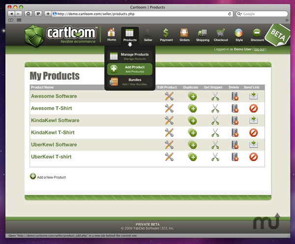 Screenshot 1 for CartLoom