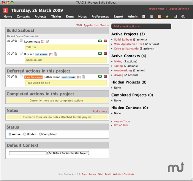 Screenshot 1 for JumpBox for Tracks Task Management