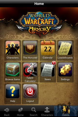 Screenshot 1 for World of Warcraft Mobile Armory