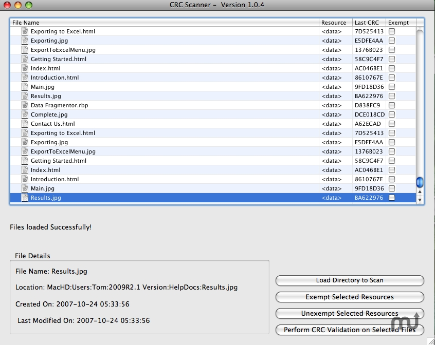 Screenshot 1 for CRC Scanner