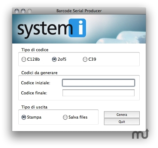 Screenshot 1 for Barcode Serial Producer