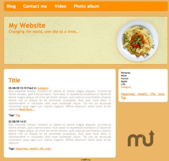 Screenshot 1 for RapidWeaver Themes: Gourmet Hues
