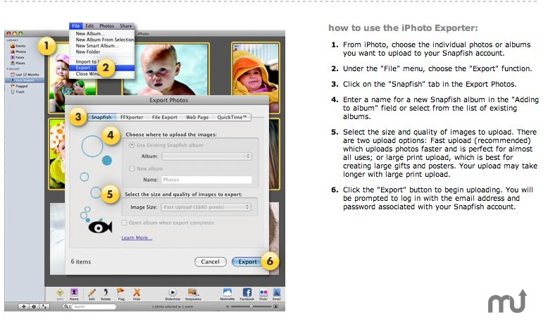 Screenshot 1 for Snapfish iPhoto Exporter