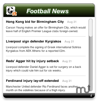 Screenshot 1 for Football News
