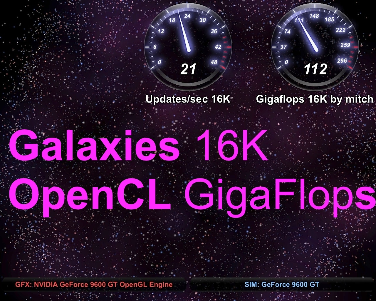 Screenshot 1 for OpenCL Benchmark