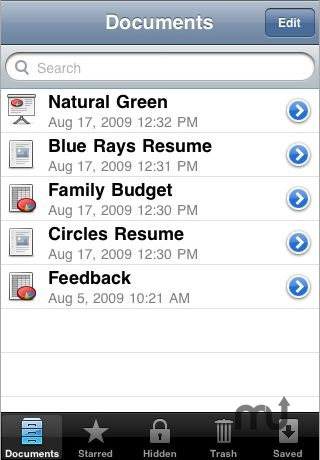 Screenshot 1 for MobileDocs