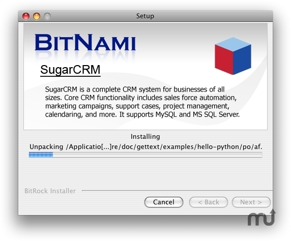Screenshot 1 for BitNami SugarCRM Stack
