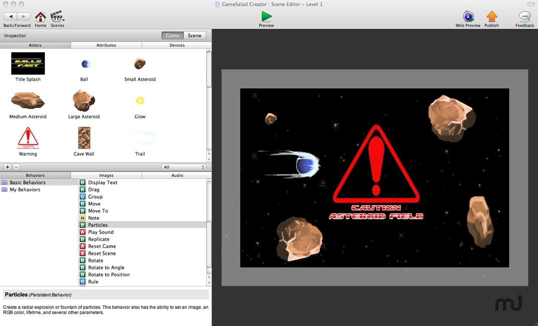 Screenshot 1 for GameSalad