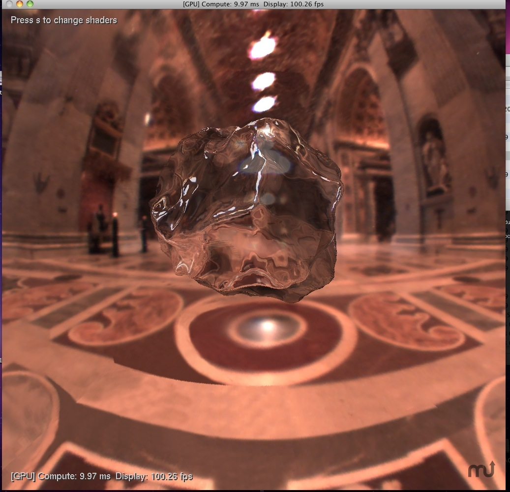 Screenshot 1 for OpenCL Displacement Benchmark - ATI + Nvidia
