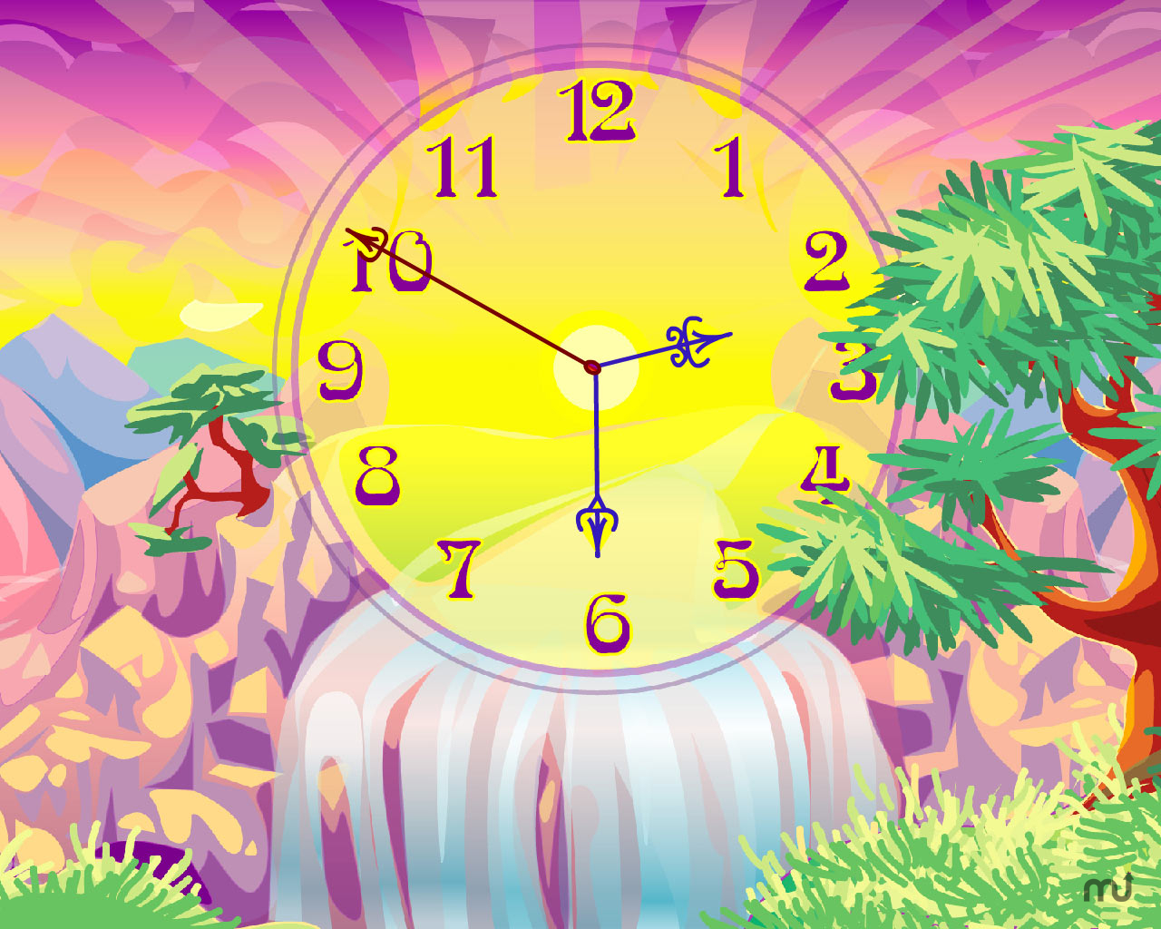 Screenshot 1 for 7art Oasis Clock