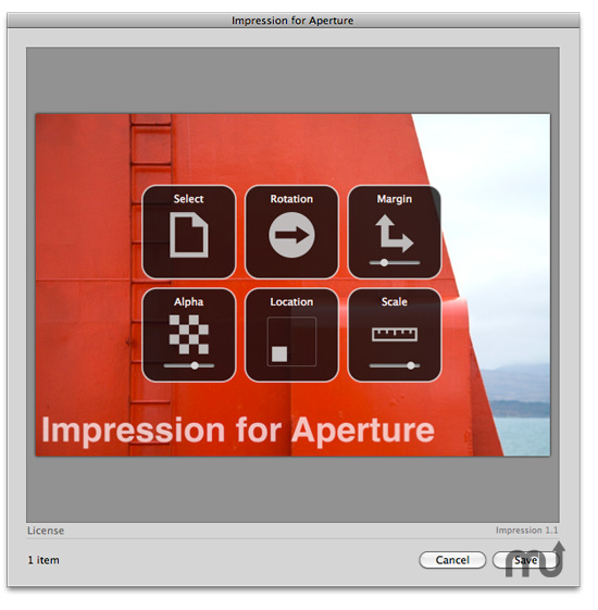 Screenshot 1 for Impression for Aperture