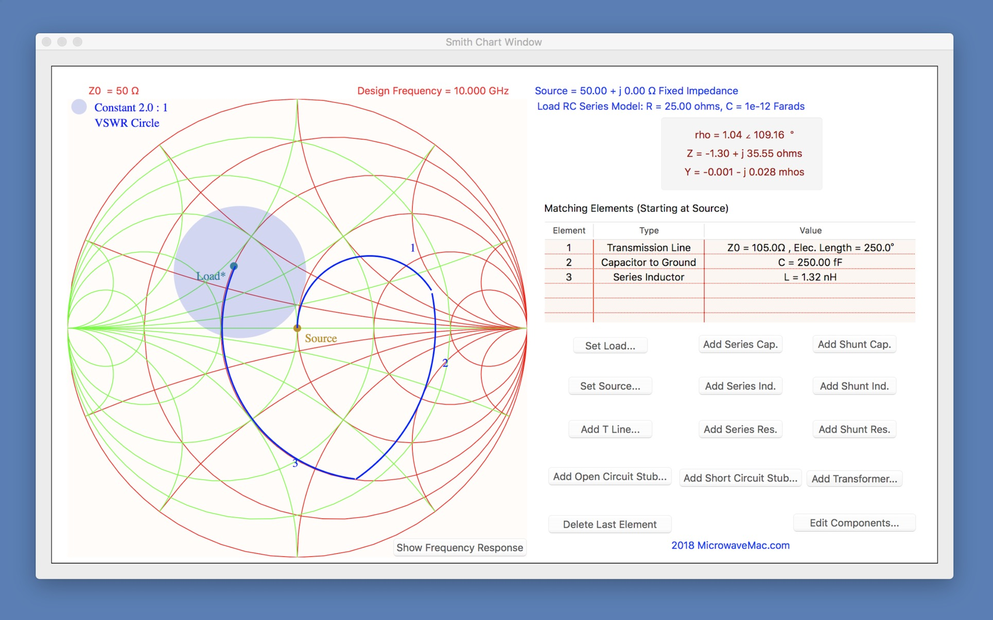 Smith Chart 343 Purchase For Mac Macupdate Circuit Simulator Os X Screenshot 1