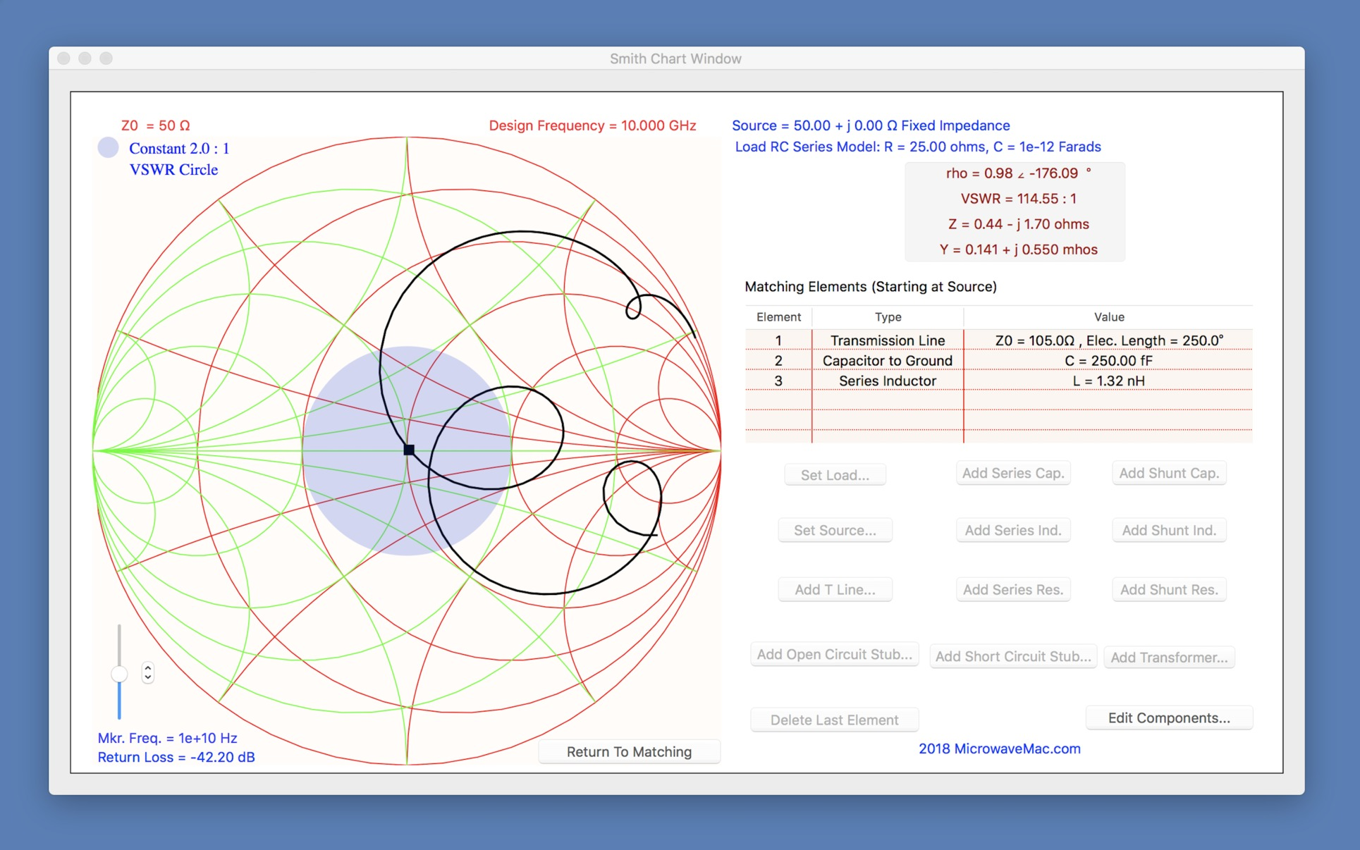 Smith Chart 343 Purchase For Mac Macupdate Circuit Simulator Os X Screenshot 2