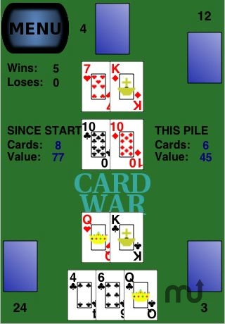 Screenshot 1 for 2 Card War