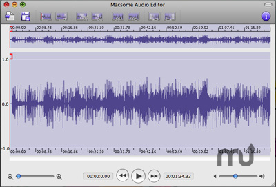 Screenshot 1 for Macsome Audio Editor