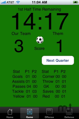 Screenshot 1 for Sideline Soccer