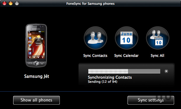 Screenshot 1 for FoneSync for Samsung phones