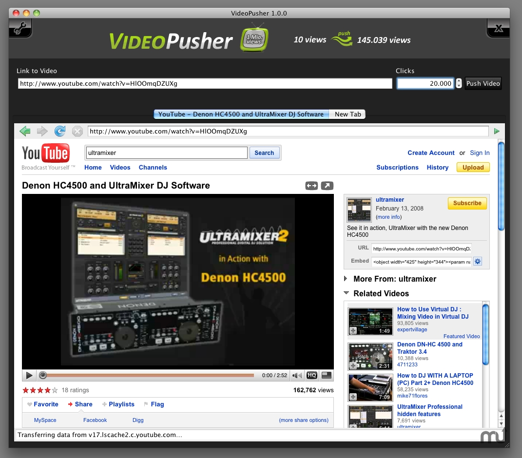 Screenshot 1 for VideoPusher