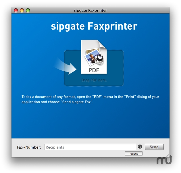 Screenshot 1 for sipgate Faxprinter
