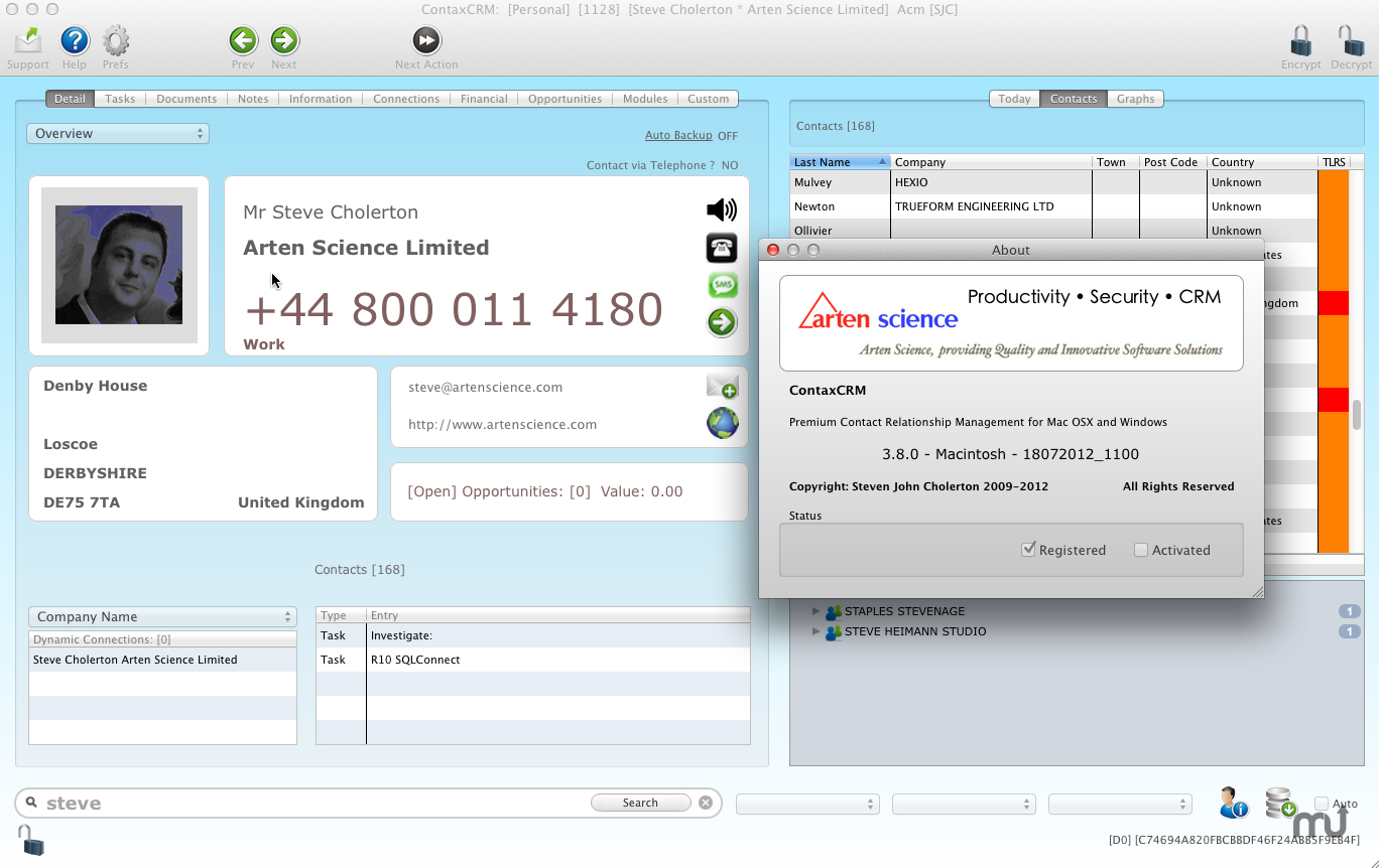 Screenshot 1 for ContaxCRM