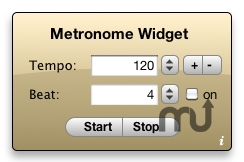 Screenshot 1 for Metronome Widget