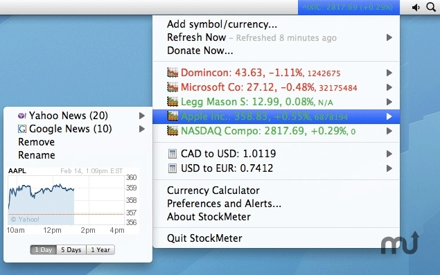 Screenshot 1 for StockMeter