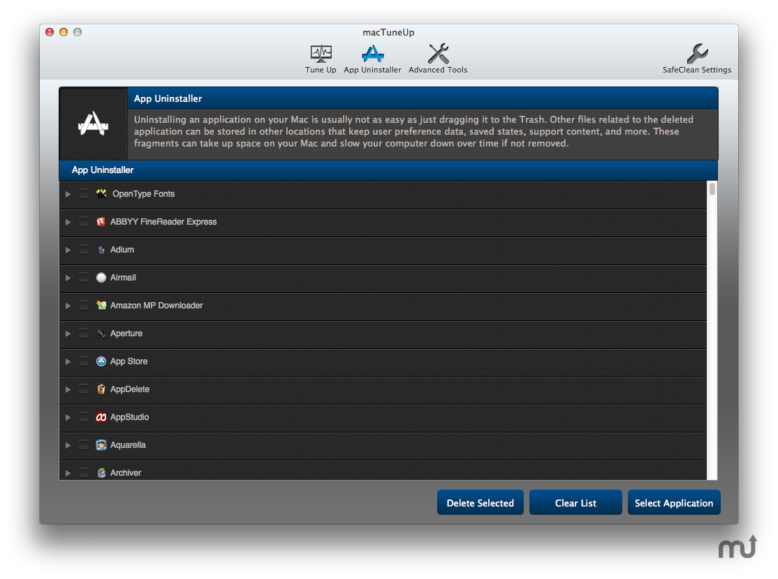 Screenshot 3 for MacTuneUp