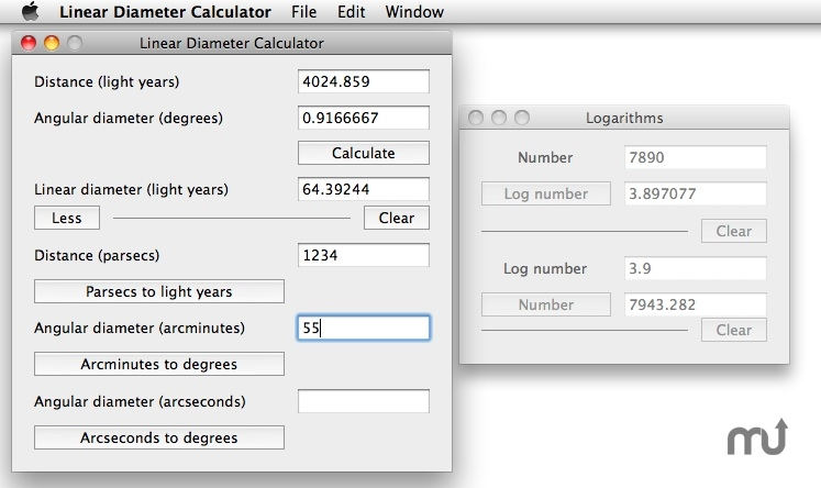 Screenshot 1 for Linear Diameter Calculator