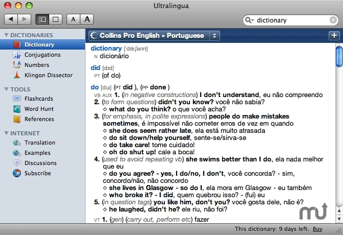 Screenshot 1 for Collins Portuguese-English Dictionary & Verbs