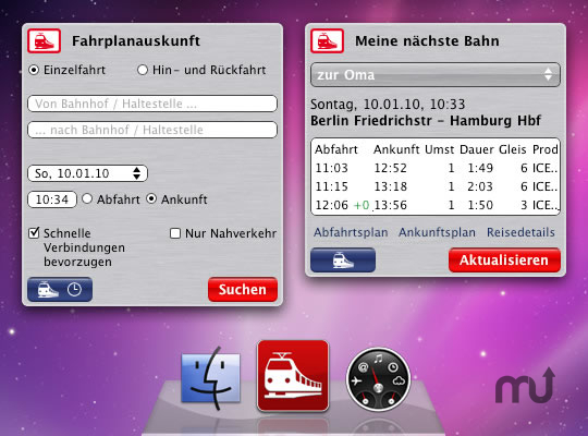 Screenshot 1 for Timetable Information (Bahn Fahrplan)