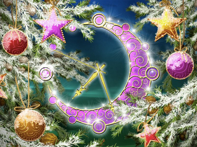 Screenshot 1 for Colorful Christmas Clock
