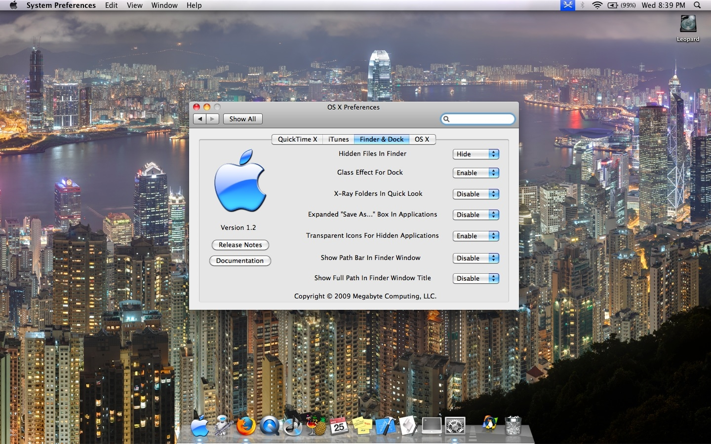 Screenshot 1 for Snow Leopard Combo Pane