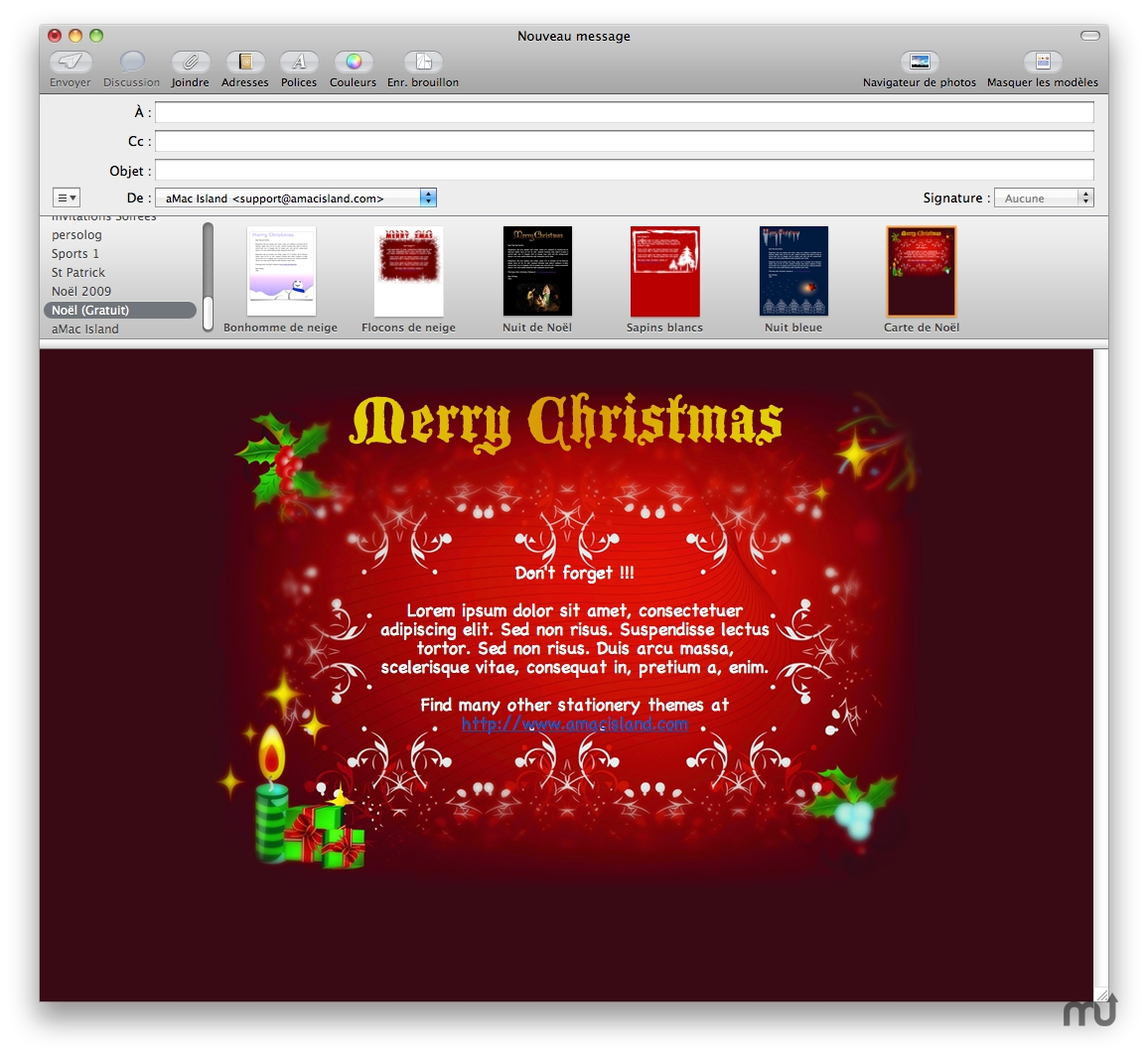 Christmas Free Mail Stationery for Mac : Free Download : MacUpdate