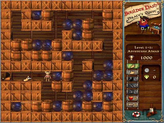 Screenshot 1 for Boulder Dash - Pirate's Quest