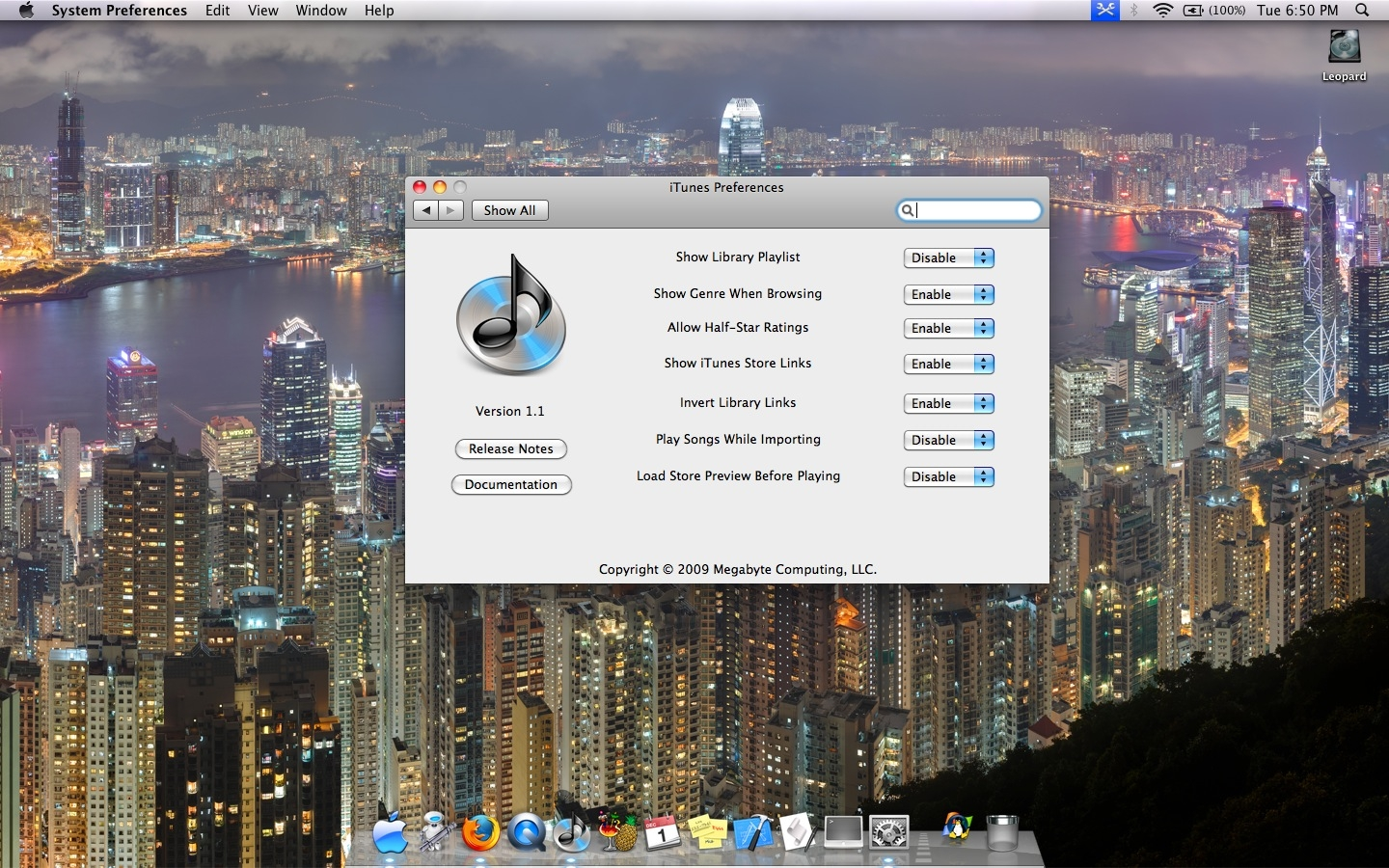 Screenshot 1 for iTunes Preference Pane