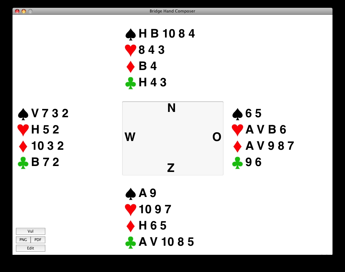 Screenshot 1 for Bridge Hand Composer
