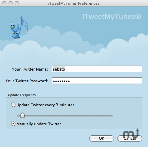 Screenshot 1 for iTWeetMyTunes