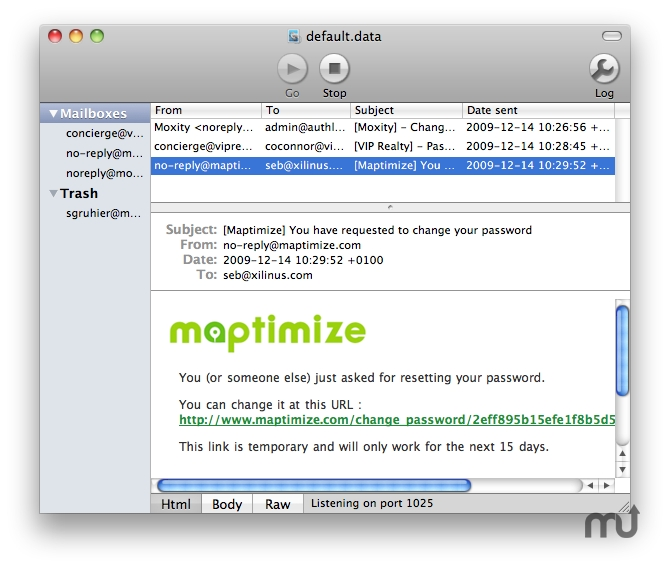 Screenshot 1 for MockSMTP