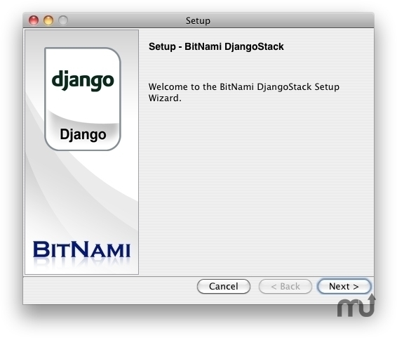 Screenshot 1 for BitNami DjangoStack
