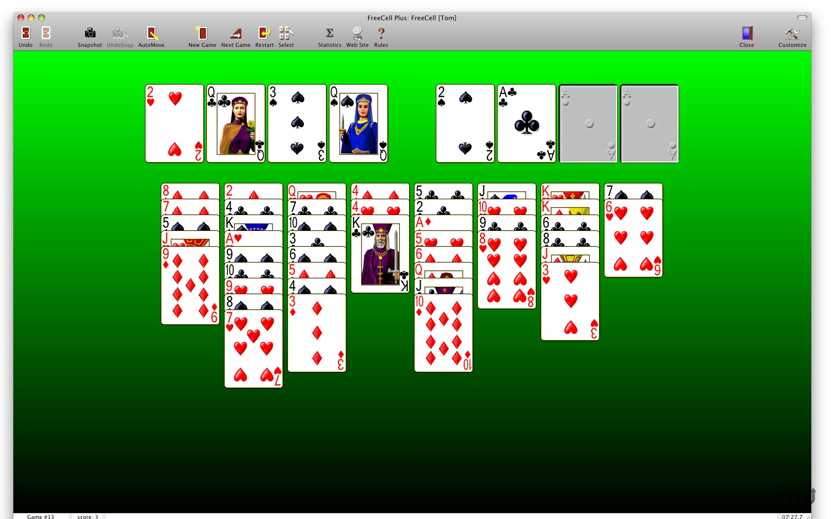Screenshot 1 for FreeCell Plus